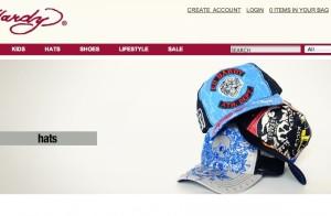 Bild: Screenshot edhardyshop.com