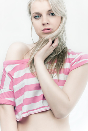 beautiful sensual blond girl