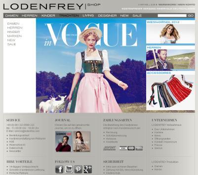 Screenshot lodenfrey.com