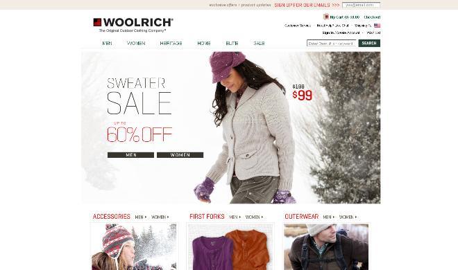 Bild: Screenshot woolrich.com