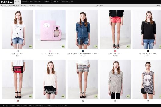 Screenshot pullandbear.com