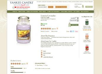 Screenshot yankeecandle.com