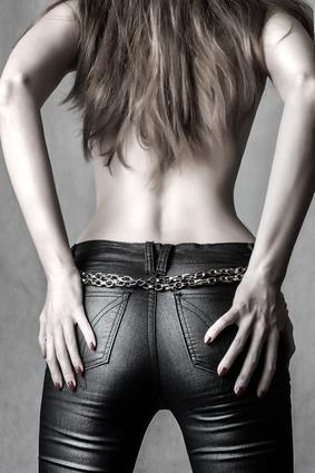 sexy female model back